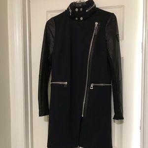 Rudsak nylon Jacket with leather sleeves